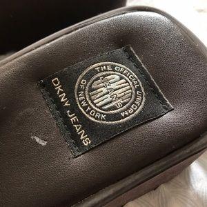 Vintage DKNY Suede Slides
